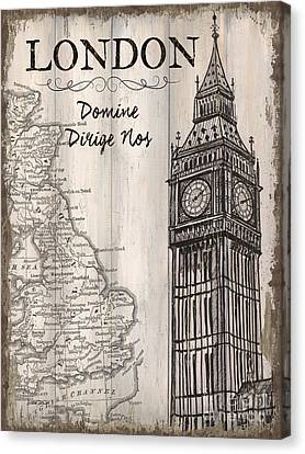 Vintage Travel Poster London Canvas Print by Debbie DeWitt