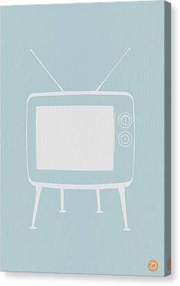 Vintage Tv Poster Canvas Print by Naxart Studio