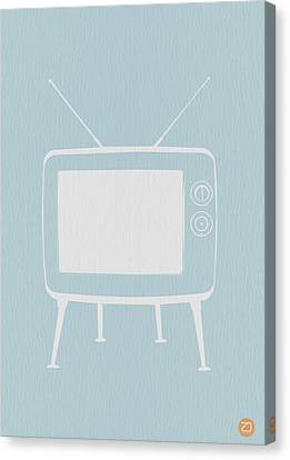 Vintage Tv Poster Canvas Print by Naxart Studio