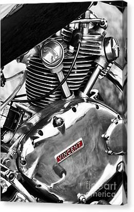 Vintage Vincent Comet Engine Canvas Print by Tim Gainey