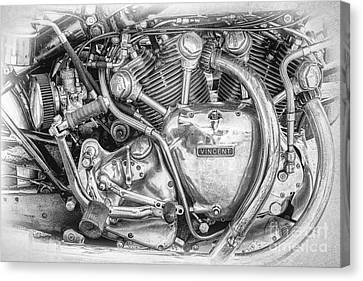 Vintage Vincent Engine Canvas Print by Tim Gainey