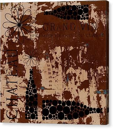 Vintage Wine Canvas Print by Frank Tschakert