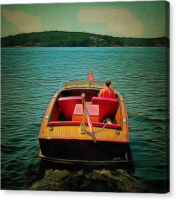 Vintage Wooden Boat Canvas Print by Anthony Caruso