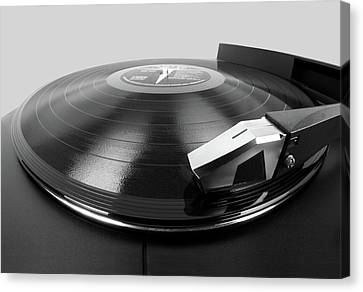 Vinyl Lp And Turntable Canvas Print by Jim Hughes