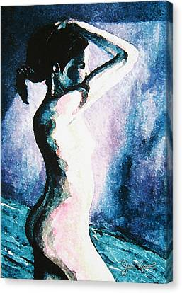 Violet Nude Canvas Print by John Keaton