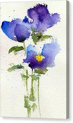 Violets Canvas Print by Anne Duke