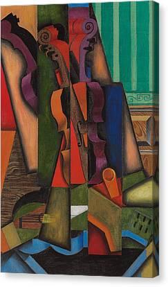 Violin And Guitar Canvas Print by Juan Gris