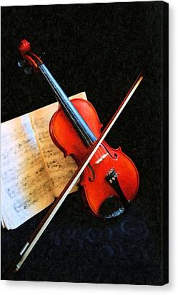 Violin Impression Canvas Print by Kristin Elmquist
