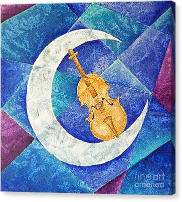 Violin-moon Canvas Print by Son  Of the Moon