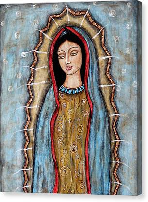Virgen De Guadalupe Canvas Print by Rain Ririn