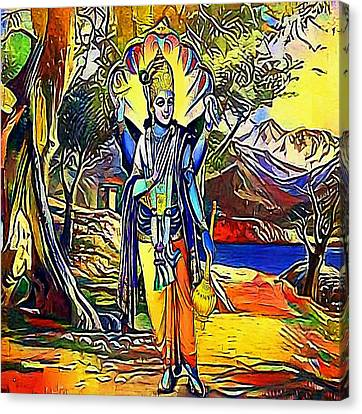 Vishnu, Hindu God - My Www Vikinek-art.com Canvas Print by Viktor Lebeda