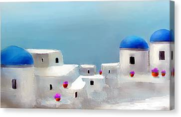 Visions Of Greece Canvas Print by Larry Cirigliano