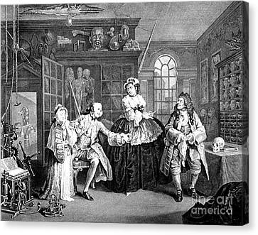 Visit To The Quack Doctor, 1745 Canvas Print by Science Source