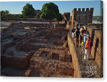 Visiting The Medieval Castle Of Silves 2 Canvas Print by Angelo DeVal