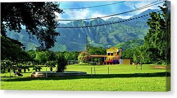 Vista Del Ferrocalejo En Rincon Grande Canvas Print by Bibi Romer