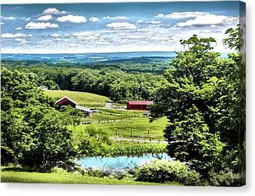 Vista In Preston County Canvas Print by Michael Forte
