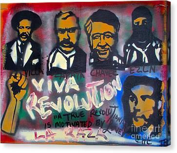Viva Revolution Canvas Print by Tony B Conscious