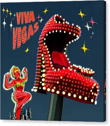Viva Vegas Canvas Print by Jeff Burgess