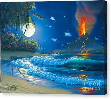 Volcano Moon Canvas Print by Al Hogue