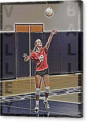 Volleyball Girl Canvas Print by Kelley King