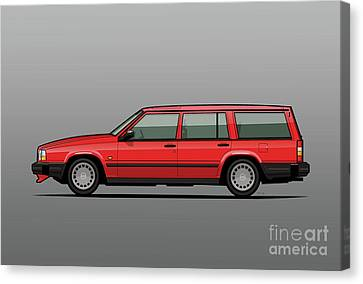 Volvo 740 745 Classic Red Canvas Print by Monkey Crisis On Mars