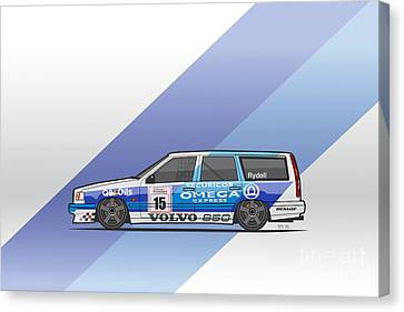 Volvo 850r Twr British Touring Car Championship  Canvas Print by Monkey Crisis On Mars
