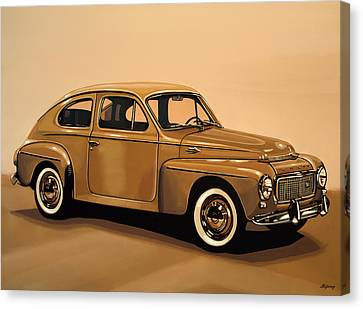 Volvo Pv 544 1958 Painting Canvas Print by Paul Meijering