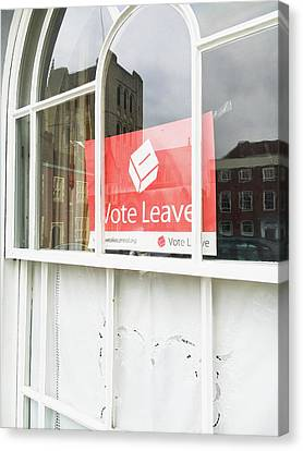 Vote Leave Canvas Print by Tom Gowanlock
