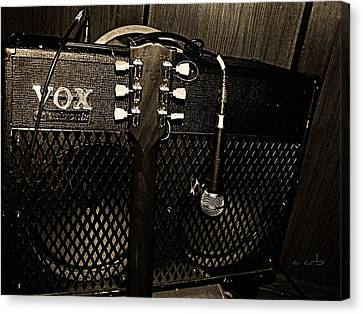 Vox Amp Canvas Print by Chris Berry