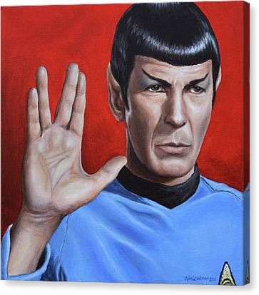 Vulcan Farewell Canvas Print by Kim Lockman