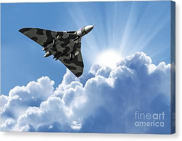 Vulcan To The Skies Canvas Print by Stephen Smith