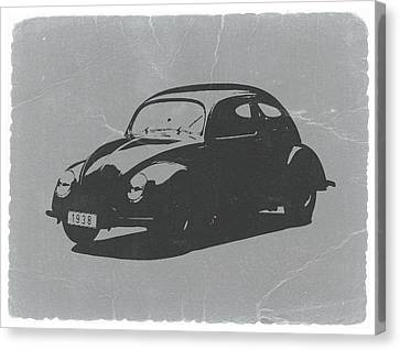 Vw Beetle Canvas Print by Naxart Studio