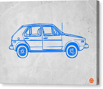 Vw Golf Canvas Print by Naxart Studio