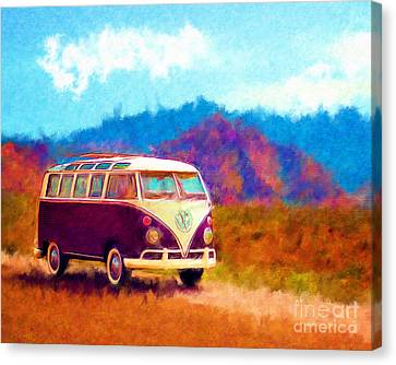 Vw Van Classic Canvas Print by Marilyn Sholin