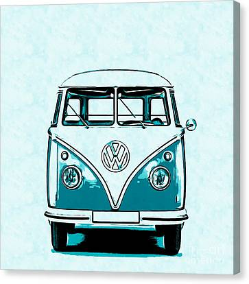 Vw Van Graphic Artwork Canvas Print by Edward Fielding