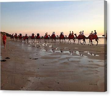 Wa Broome Beach Australia Canvas Print by Bushra Yousaf