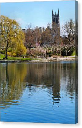 Wade Park District In Spring Canvas Print by Dan Sproul