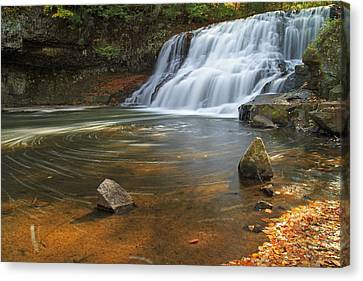 Wadsworth Falls Canvas Print by David Freuthal
