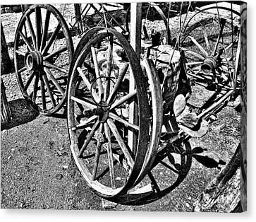 Wagon Wheel Graveyard Canvas Print by Douglas Barnard