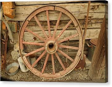Wagon Wheel Canvas Print by Jeff Swan