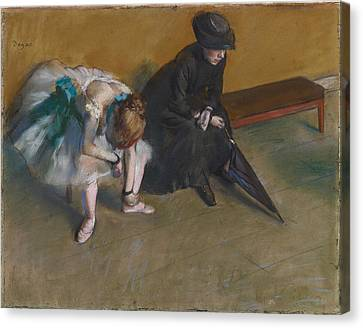 Waiting About 1882 Canvas Print by Edgar Degas