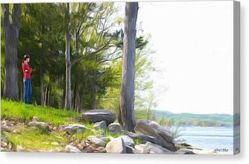 Waiting Ashore Canvas Print by Jeff Kolker