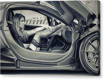 Waiting For A Driver Canvas Print by ItzKirb Photography