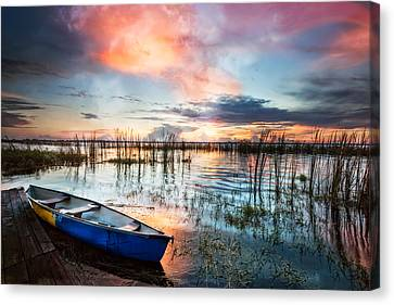Waiting For Dawn Canvas Print by Debra and Dave Vanderlaan
