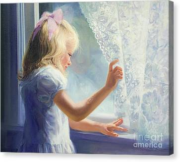 Waiting For Grandma Canvas Print by Laurie Hein