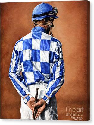Waiting For Secretariat Canvas Print by Thomas Allen Pauly