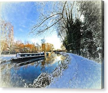 Waiting For Spring - Impressions Canvas Print by Gill Billington