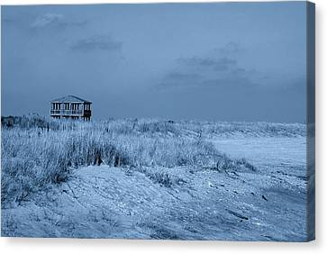 Waiting For Summer - Jersey Shore Canvas Print by Angie Tirado