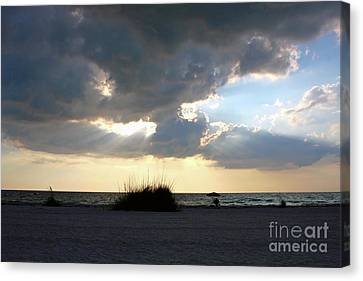 Waiting For Sunset Canvas Print by Carol Groenen