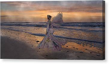 Waiting For The Sun Canvas Print by Betsy Knapp